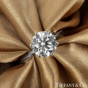 Tiffany & Co. Round Brilliant Cut Diamond Ring 2.61ct I/VS1 XXX